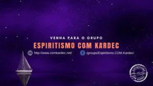 Clique na Imagem e venha para o Grupo Espiritismo Com Kardec, no facebook